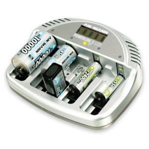 Akku Ladegerät Test - ANSMANN 5707083 Powerline 5 Akku Ladegerät Micro AAA Mignon AA Baby C Mono D 9V Block LCD/LED