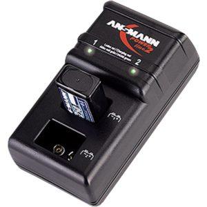 Akku Ladegerät Test - ANSMANN Powerline 2 Akku-Ladegerät für zwei 9V E-Block Akkus